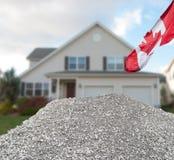 Concepto casero canadiense del sector de la construcción Foto de archivo