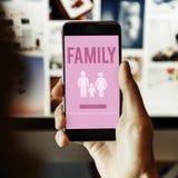 Concepto casero relacionado del amor de la genealogía del cuidado de la familia imagen de archivo libre de regalías