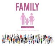 Concepto casero relacionado del amor de la genealogía del cuidado de la familia imagenes de archivo
