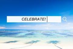 Concepto casual de la felicidad del partido del disfrute alegre de la celebración Fotos de archivo libres de regalías