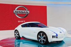 Concepto cero de la emisión de Nissan Foto de archivo libre de regalías