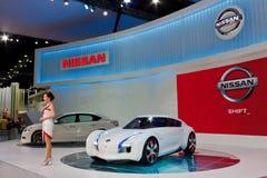 Concepto cero de la emisión de Nissan Fotografía de archivo