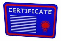 Concepto: certificado Imagen de archivo libre de regalías