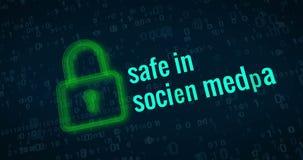 Concepto cibernético de la protección de la seguridad y de la intimidad stock de ilustración