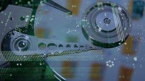Concepto cibernético de la seguridad almacen de metraje de vídeo