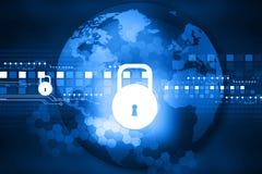 Concepto cibernético de la seguridad Foto de archivo libre de regalías
