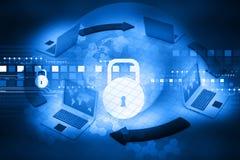 Concepto cibernético de la seguridad Imagen de archivo
