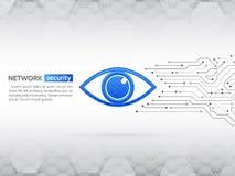 Concepto cibernético de la seguridad del ojo Fondo de la protección de datos de la red libre illustration
