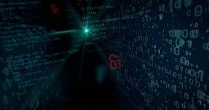 Concepto cibernético 5 de la seguridad y de la seguridad ilustración del vector
