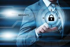 Concepto cibernético de la tecnología del negocio de Internet del web de la privacidad de la encripción de la red de la protecció foto de archivo