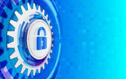 Concepto cibernético de la tecnología de seguridad Foto de archivo libre de regalías