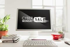 Concepto cibernético de la venta de lunes imagen de archivo