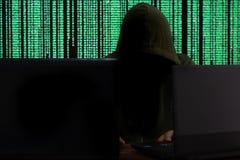 concepto cibernético del ataque imagenes de archivo