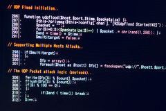 Concepto cibernético del ataque de DDOS fotografía de archivo libre de regalías