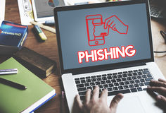 Concepto cibernético del gráfico del ataque de la seguridad en línea imagen de archivo libre de regalías