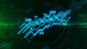 Concepto cibernético del negocio con la animación de la carta ilustración del vector