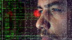 Concepto cibernético del pirata informático del ataque metrajes