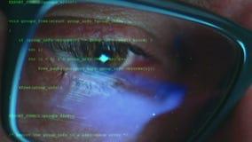 Concepto cibernético del pirata informático del ataque almacen de metraje de vídeo
