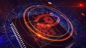 Concepto cibern?tico de la vigilancia stock de ilustración