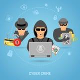 Concepto cibernético del crimen Foto de archivo