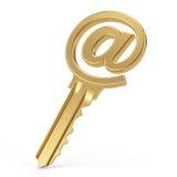 Concepto clave del correo electrónico Imágenes de archivo libres de regalías