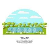 Concepto colorido de la agronomía y de la agricultura libre illustration