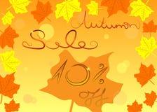 Concepto colorido de las compras de la venta del otoño, vector stock de ilustración