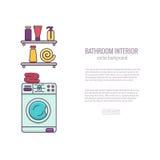 Concepto colorido del equipo del baño de BATHROOM-END libre illustration