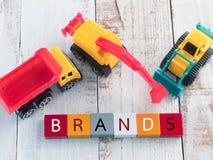 Concepto colorido del negocio del bloque de palabra Foto de archivo libre de regalías