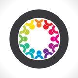Concepto colorido del trabajo en equipo o de diseño de la unidad Foto de archivo libre de regalías