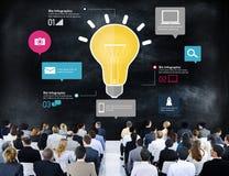Concepto comercial de comercialización del crecimiento del negocio global medios Foto de archivo libre de regalías