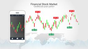 Concepto comercial de la inversión del mercado de acción de las divisas stock de ilustración