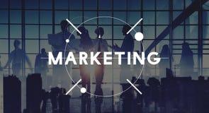 Concepto comercial del anuncio de la estrategia de la planificación de mercados imagen de archivo libre de regalías