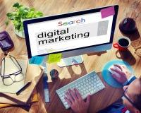 Concepto comercial del Social del anuncio del márketing de Digitaces Fotografía de archivo