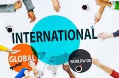Concepto comercial mundial de la comunidad global internacional Fotografía de archivo