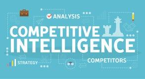 Concepto competitivo de la inteligencia Idea de la organización de la empresa libre illustration
