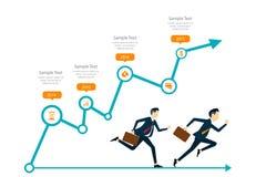 Concepto competitivo del negocio ilustración del vector