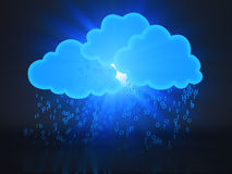 Concepto computacional de la nube Imagen de archivo libre de regalías
