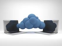 Concepto computacional de la nube. Foto de archivo