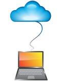 Concepto computacional de la nube Imagenes de archivo