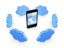 Concepto computacional de la nube. Imágenes de archivo libres de regalías