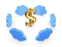 Concepto computacional de la nube. Foto de archivo libre de regalías