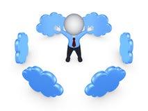 Concepto computacional de la nube. Imagen de archivo