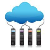 Concepto computacional de la nube de reserva del servidor Foto de archivo libre de regalías