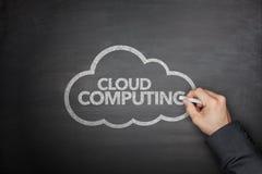 Concepto computacional de la nube en la pizarra Imagen de archivo libre de regalías