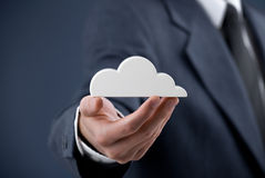 Computación de la nube Fotos de archivo libres de regalías