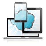Concepto computacional de la nube Foto de archivo libre de regalías