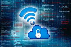 Concepto computacional de la nube, red de la nube representación 3d imagen de archivo