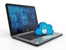 concepto computacional de la nube de la representación 3d, red de la nube Imagenes de archivo