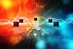 concepto computacional de la nube de la representación 3d, red de la nube Imágenes de archivo libres de regalías